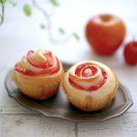 紅玉りんごの薔薇のパン
